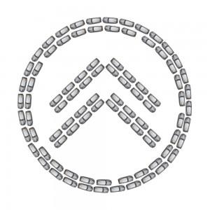 60 Jahre DS - das Logo auf dem Burgplatz Düsseldorf (Symbolbild)